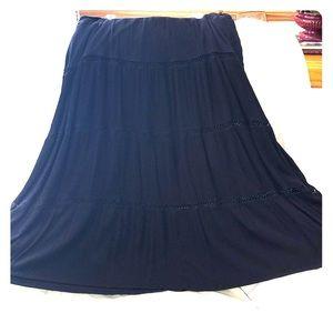 Long Skirt dark blue